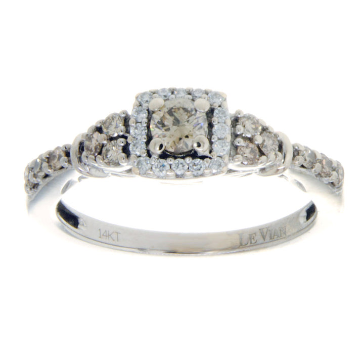 Levian Chocolate Diamond Halo Ring