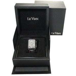 LeVian ZAG 61 Hudson Racer Midnight Collection Black Diamond Watch