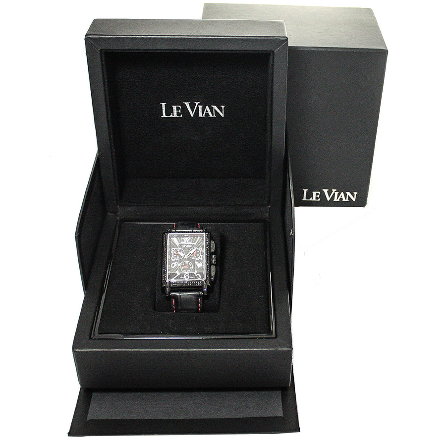 LeVian ZAG 61 Hudson Racer Midnight Collection Black Diamond Watch - Chicago Pawners & Jewelers