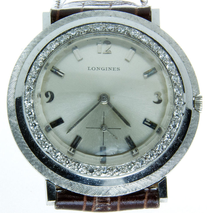 Vintage Longines 18K Diamond Watch