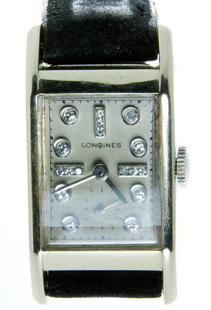 1940s Longines Diamond Dial Watch - Chicago Pawners & Jewelers