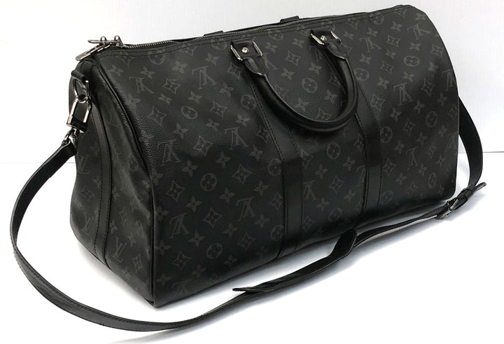Louis Vuitton Keepall Bandouliére 45 Monogram Eclipse Canvas
