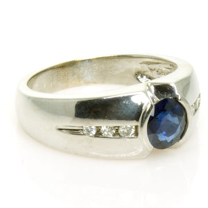 Men's 1.65ct Sapphire & Diamond Ring