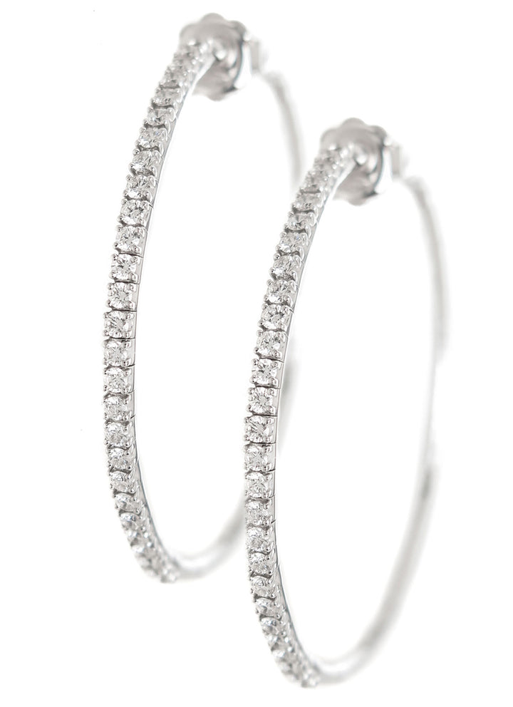 Mattia Cielo Rugiada Diamond Hoop Earrings - Chicago Pawners & Jewelers