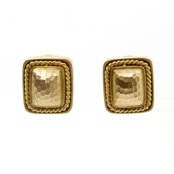MAZ Hand Hammered 14kt Gold Earrings - Chicago Pawners & Jewelers