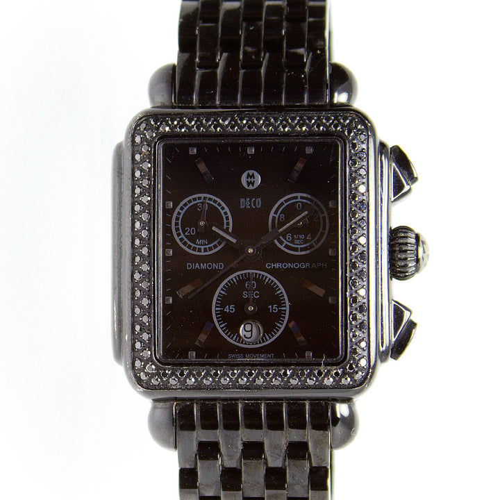 Michele Deco Diamond Noir Chronograph