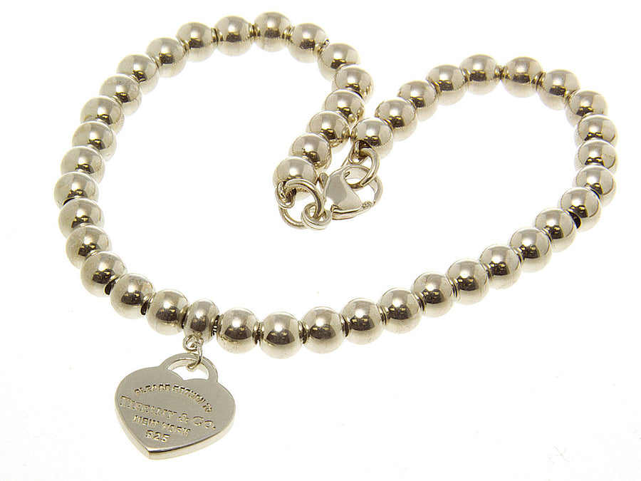 Return to Tiffany Mini Heart Tag Bead Bracelet - Chicago Pawners & Jewelers