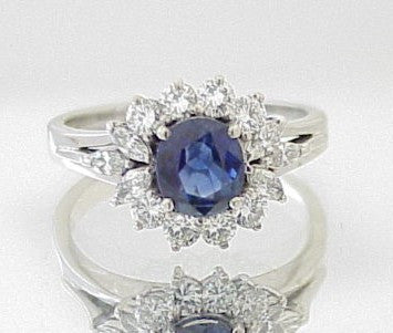 2.40ct Sapphire & Diamond Ring - Chicago Pawners & Jewelers