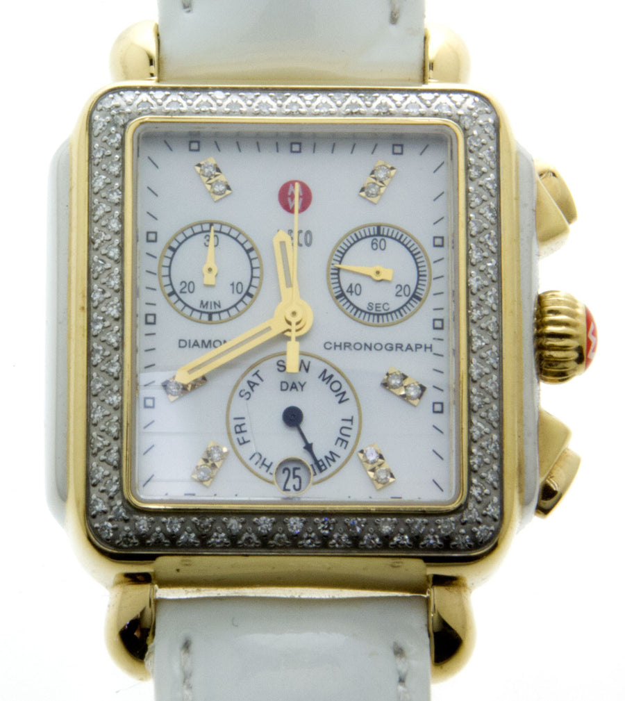 Michele Signature Deco Diamond Two-Tone