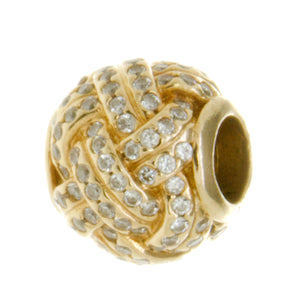 Pandora 14k Gold Sparkling Love Knot Charm - Chicago Pawners & Jewelers