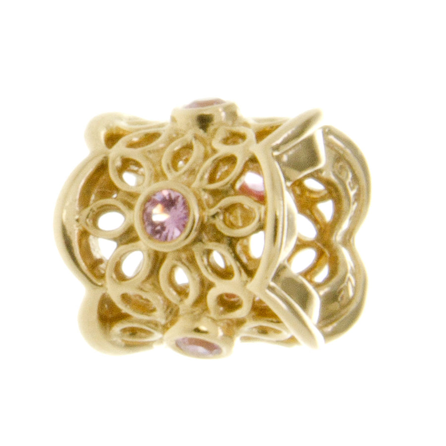 Pandora 14k Golden Radiance Charm with Pink Crystal - Chicago Pawners & Jewelers
