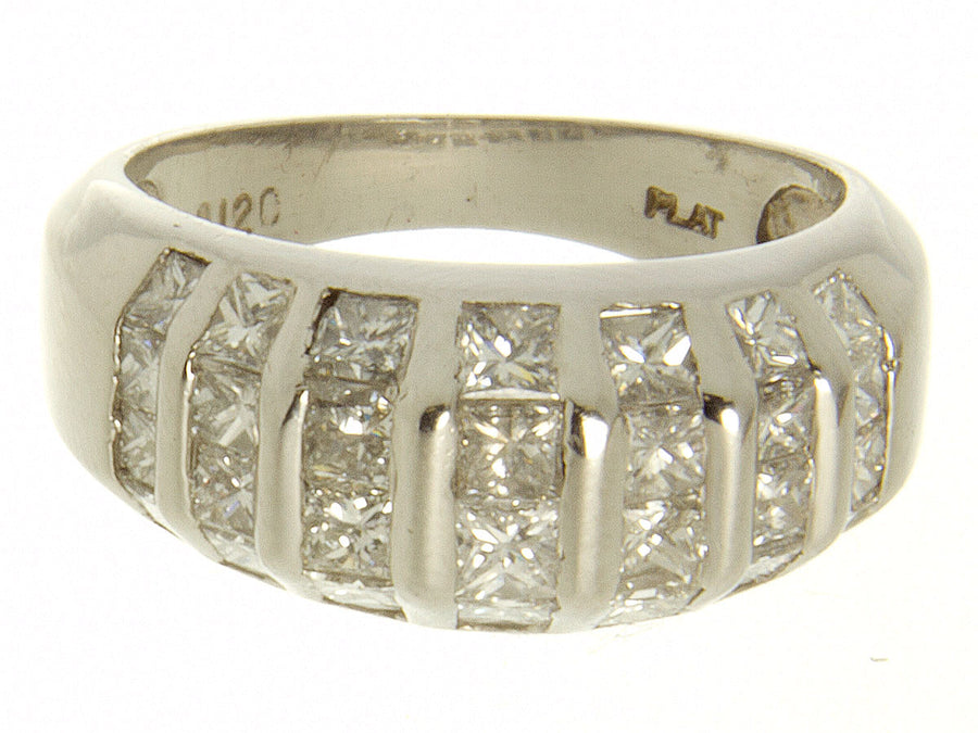 1.20ct Diamond & Platinum Band Ring - Chicago Pawners & Jewelers