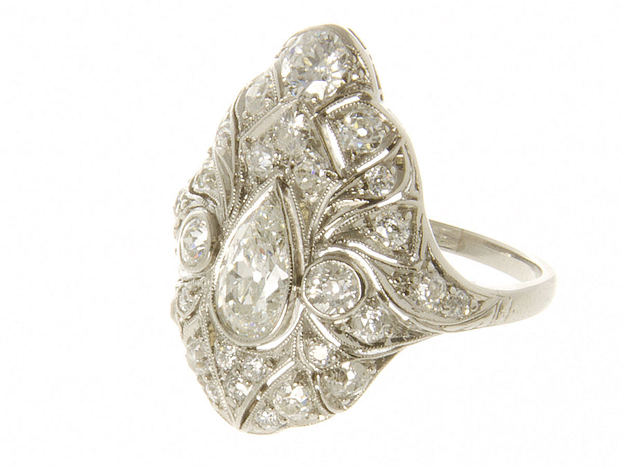 1920s Art Deco Platinum Diamond Ring - Chicago Pawners & Jewelers