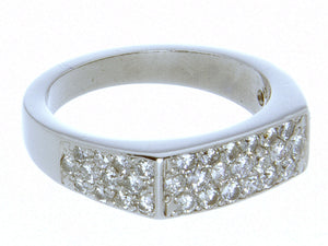 1.00ct Pave' Diamond Platinum Band - Chicago Pawners & Jewelers