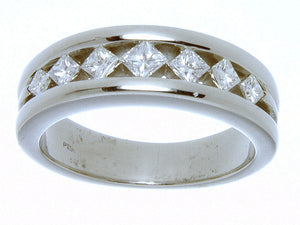 1.25ct Diamond Platinum Wedding Band - Chicago Pawners & Jewelers