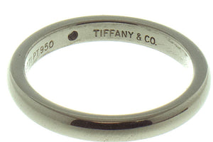 Tiffany Elsa Peretti Platinum Diamond Band Ring - Chicago Pawners & Jewelers