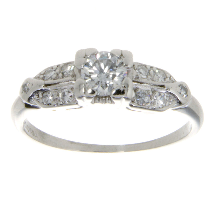 1950s Platinum Diamond Wedding Set - Chicago Pawners & Jewelers