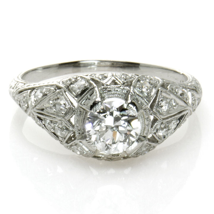 1.29ct Edwardian Platinum & Diamond Engagement Ring - Chicago Pawners & Jewelers