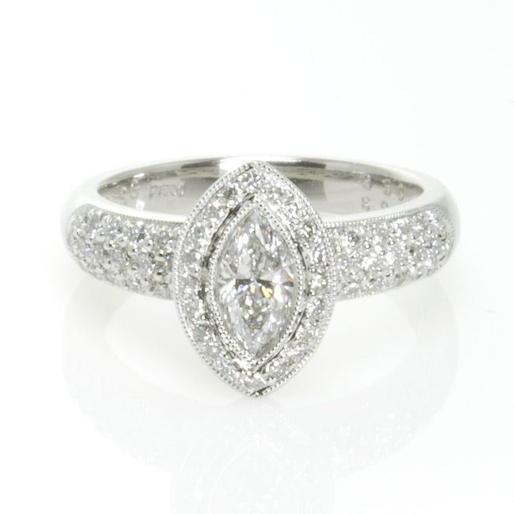 1.08ct Marquise Diamond Halo Engagement Ring - Chicago Pawners & Jewelers