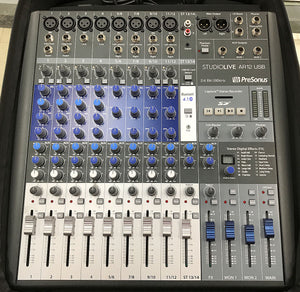 PreSonus StudioLive AR12 14-Channel Hybrid USB Mixer Interface with Backpack Case
