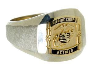 Retired U.S. Marine Corps 14kt Gold Ring