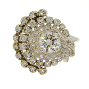 Retro 1.38ct Diamond Engagement Ring - Chicago Pawners & Jewelers