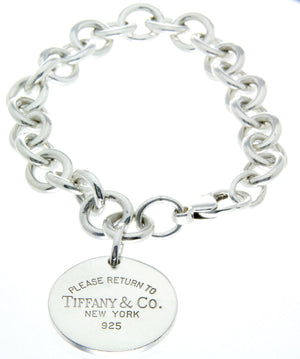 50afbe657 Tiffany & Co. Return to Tiffany Round Tag Charm Bracelet – Chicago ...