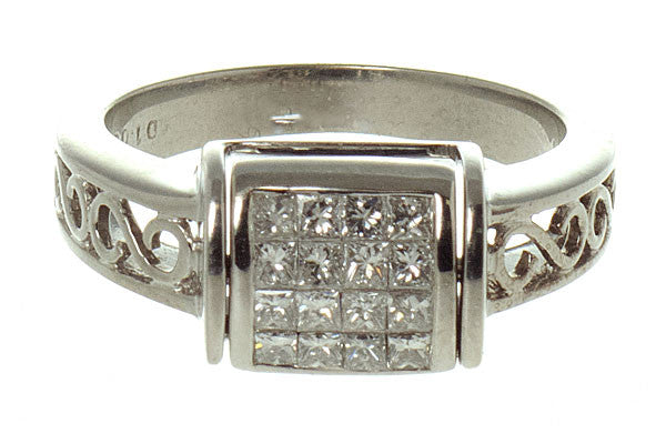 "2.31ct Diamond & Sapphire ""Flip"" Ring - Chicago Pawners & Jewelers"