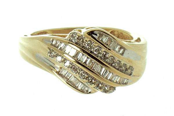 1/2ct Round & Baguette Diamond Band Ring - Chicago Pawners & Jewelers