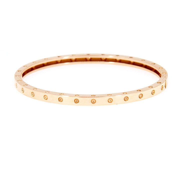 Roberto Coin Pois Moi Rose Gold Bangle