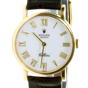 Rolex Cellini Classic White Roman Dial - Chicago Pawners & Jewelers