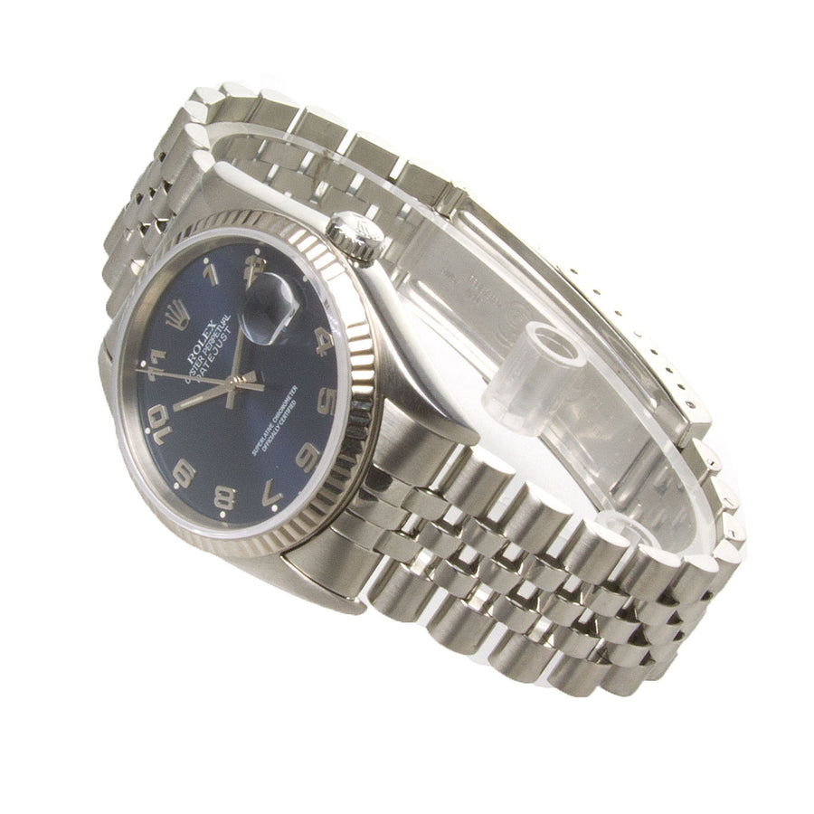 Rolex Datejust SS Blue Arabic Dial - Chicago Pawners & Jewelers