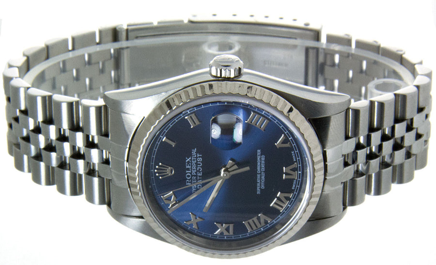 Rolex Datejust SS Blue Roman Dial - Chicago Pawners & Jewelers