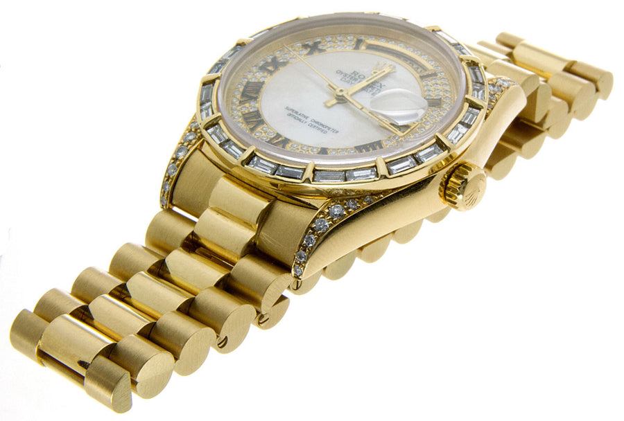 Rolex Day-Date President with Baguette Diamond Dial Bezel - Chicago Pawners & Jewelers