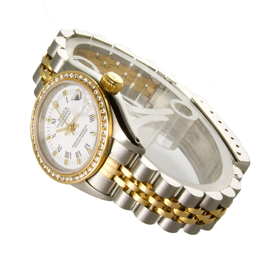 Rolex Lady Datejust SS/18K with Diamond Bezel - Chicago Pawners & Jewelers