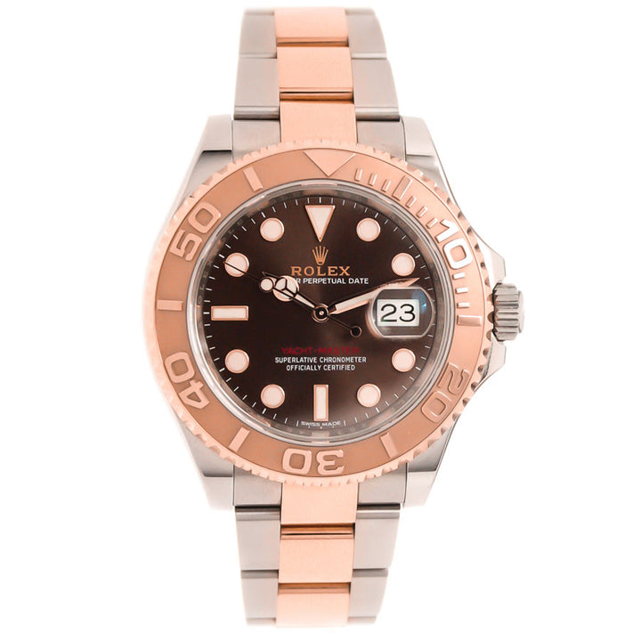 Rolex Yachtmaster 40 SS/RG Chocolate Dial - Chicago Pawners & Jewelers