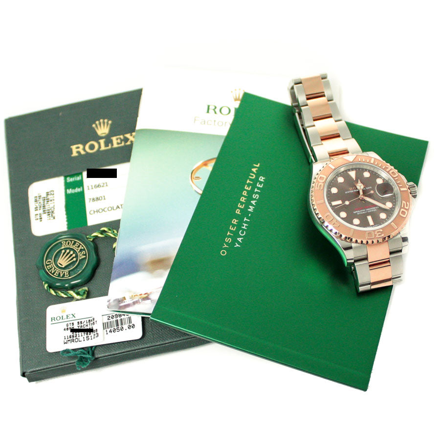 Rolex Yachtmaster 40 SS/RG Chocolate Dial