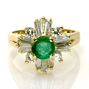 1.45ct Emerald & Diamond Cocktail Ring