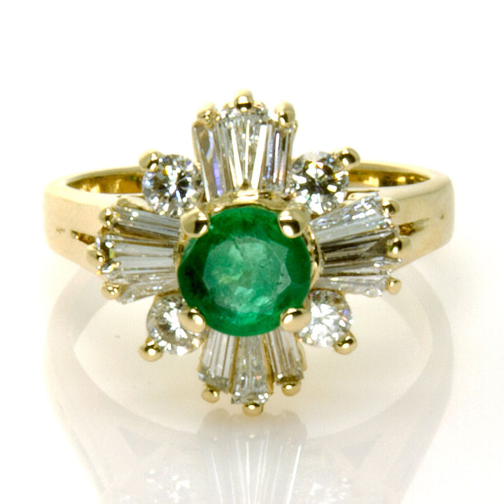 1.45ct Emerald & Diamond Cocktail Ring - Chicago Pawners & Jewelers