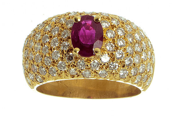 2.59ct Ruby & Pave' Diamond Ring - Chicago Pawners & Jewelers