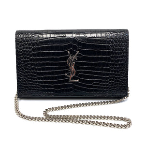 Saint Laurent Monogram Chain Wallet Crossbody