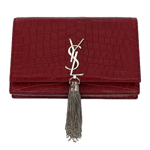 Saint Laurent Kate Chain Wallet with Tassel