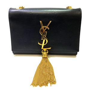 Saint Laurent Small Chain Wallet with Tassel