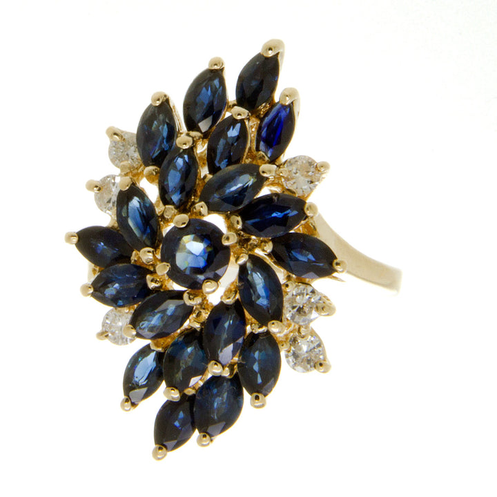 4.00ct Sapphire & Diamond Cocktail Ring - Chicago Pawners & Jewelers
