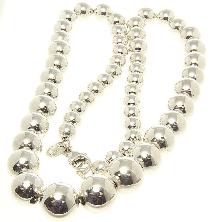 Tiffany Beads Graduated Necklace - Chicago Pawners & Jewelers