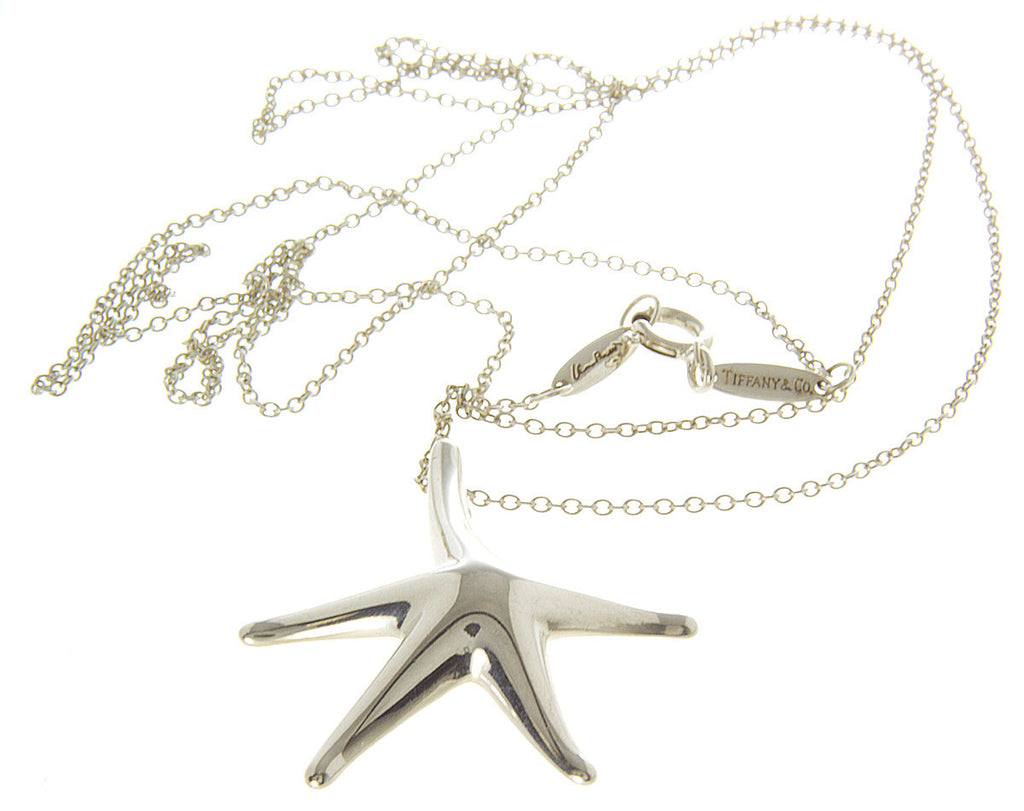 Tiffany Elsa Peretti Large Starfish Charm & Chain
