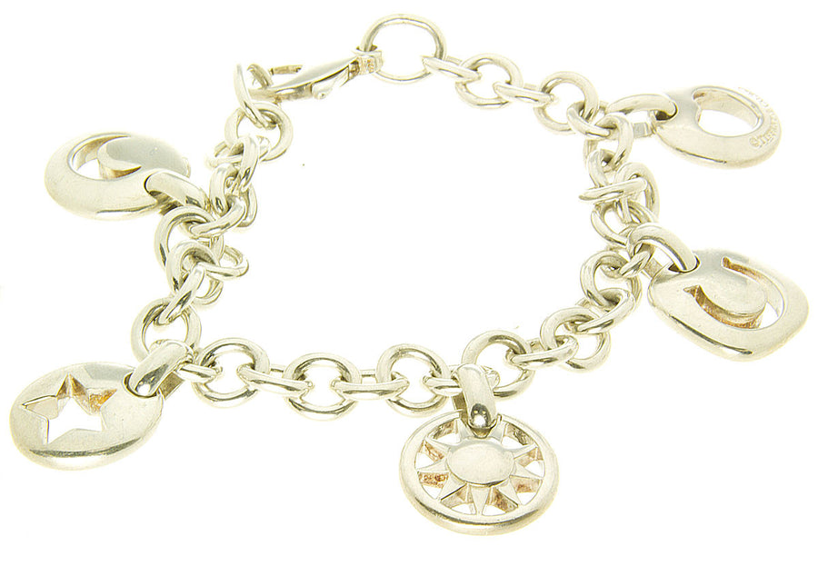 Tiffany & Co. Stencil Charm Bracelet