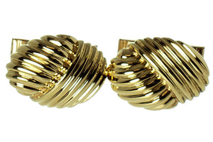 Tiffany & Co. 18kt Gold Ribbed Cufflinks