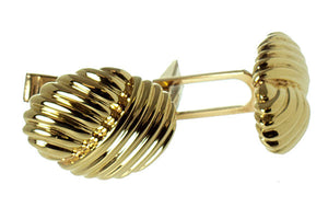 Tiffany & Co. 18kt Gold Ribbed Cufflinks - Chicago Pawners & Jewelers