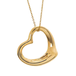 Tiffany & Co. Elsa Peretti 18kt Open Heart Pendant